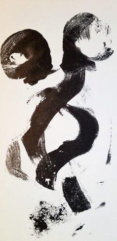 black and white print