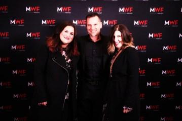 Mel Mackintosh, Scott Major and Sarah Alenka at the Closing Night Gala Awards