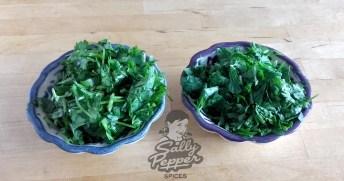 Perejil y cilantro picado.