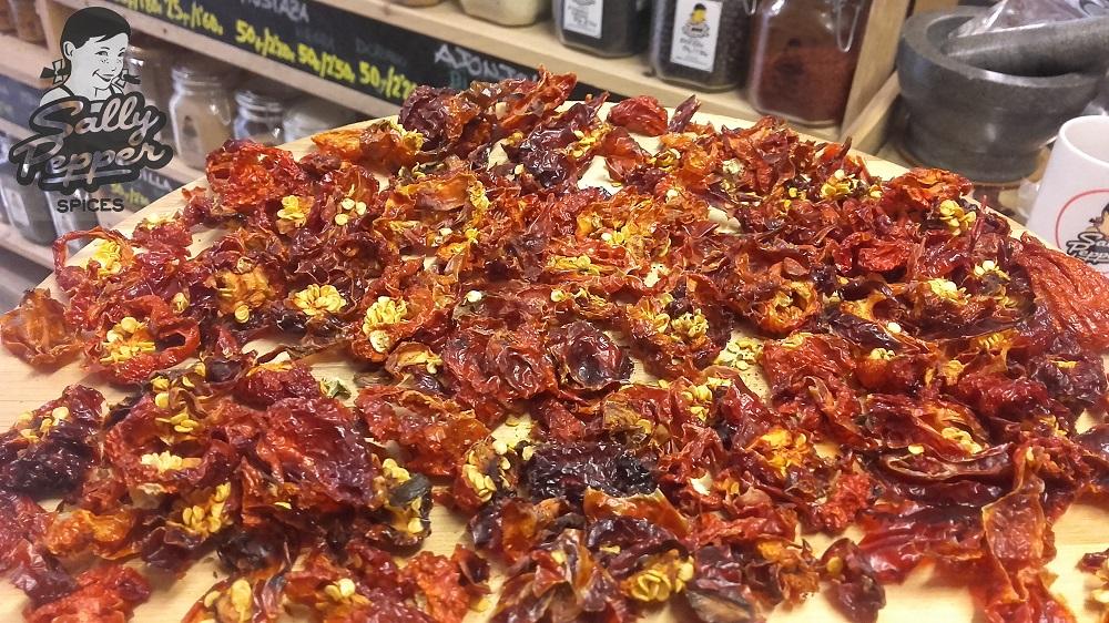 Sally Pepper-Spices-Tienda-Especias-salsas picantes-chiles-Habanero rojo