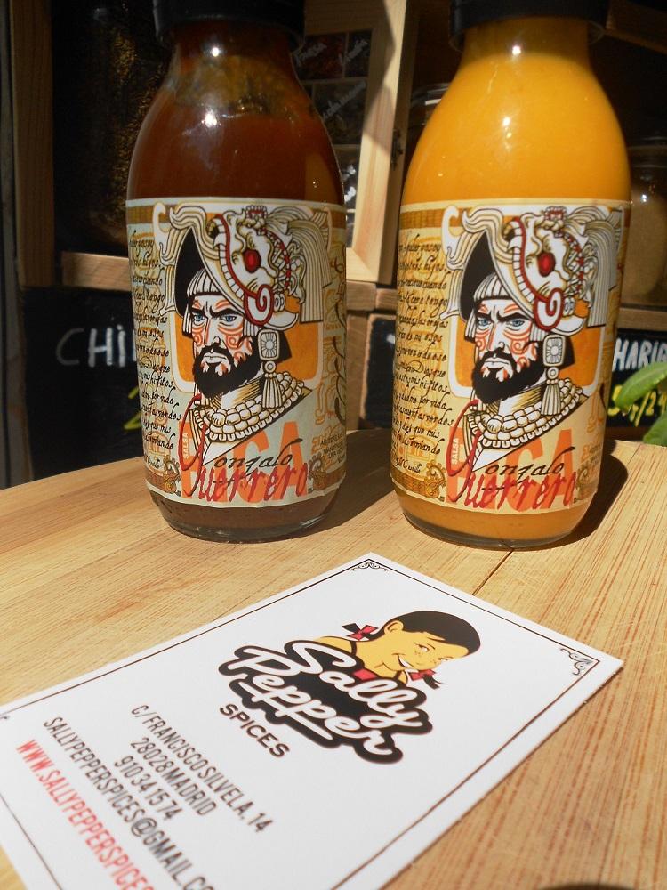 Sally Pepper Spices la Tienda Especias en Madrid presenta Salsas picantes Gonzalo Gerrero: Chilacalt y Kostli