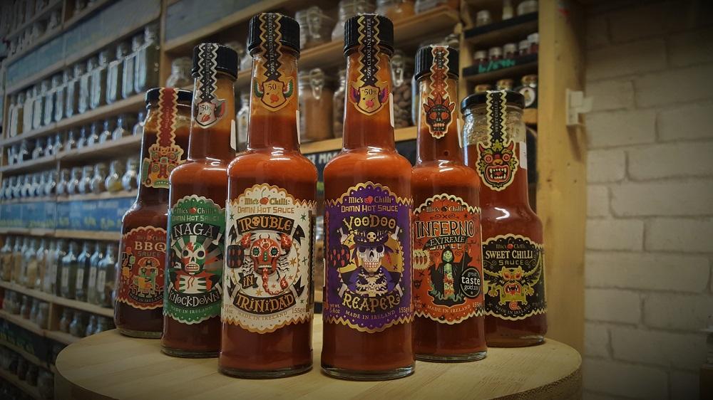 Surtido de Salsas picantes Mic's Chilli en Sally Pepper