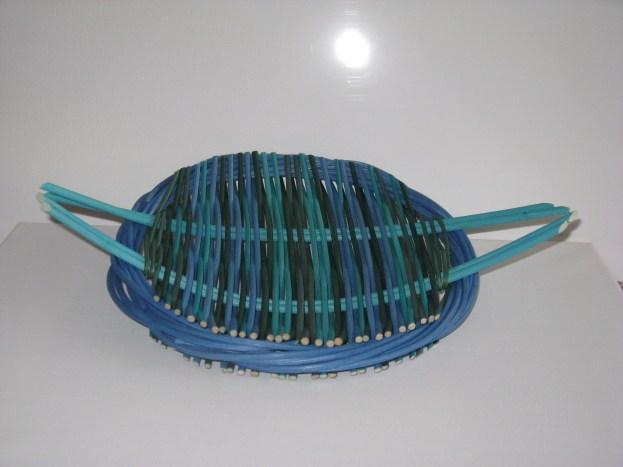dyed cane Catalan tension platter