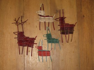 willow, cane and dogwood reindeer