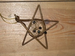 decorated willow star