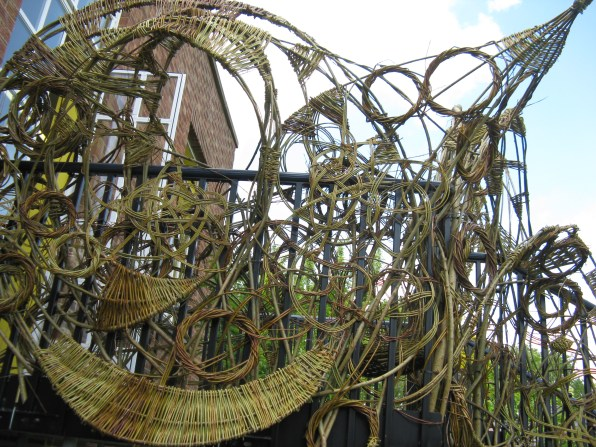 willow structure at Rock Road Library