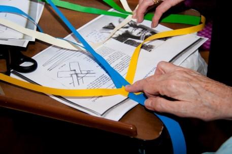 plaiting paper bookmarks