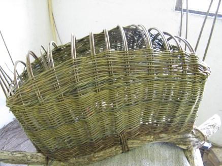 completing base of 'boat' basket
