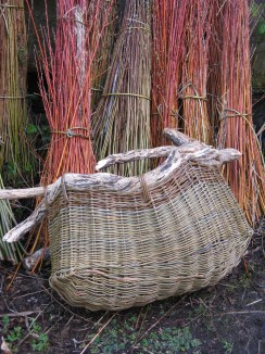 'Boat' basket in willow and found wood - Sally Roach