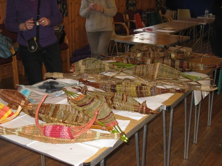 selection of Herts Basketry willow frame baskets