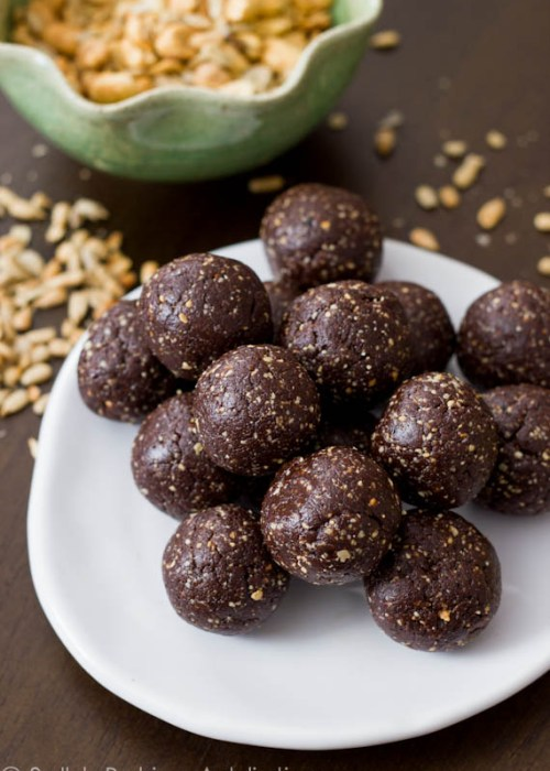 Healthy, wholesome naturally sweetened chocolate truffles. Get your chocolate fix without the sugar crash!  Recipe at sallysbakingaddiction.com