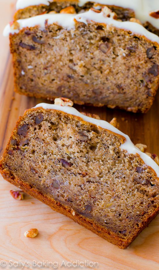 Best-Ever Banana Bread with Cream Cheese Frosting - Sallys Baking Addiction