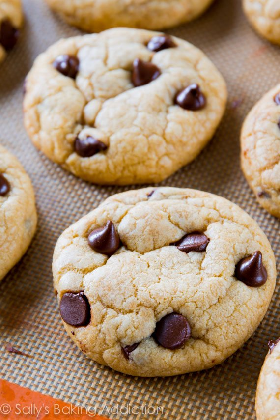 these are the best chocolate chip cookies soft chewy thick and you