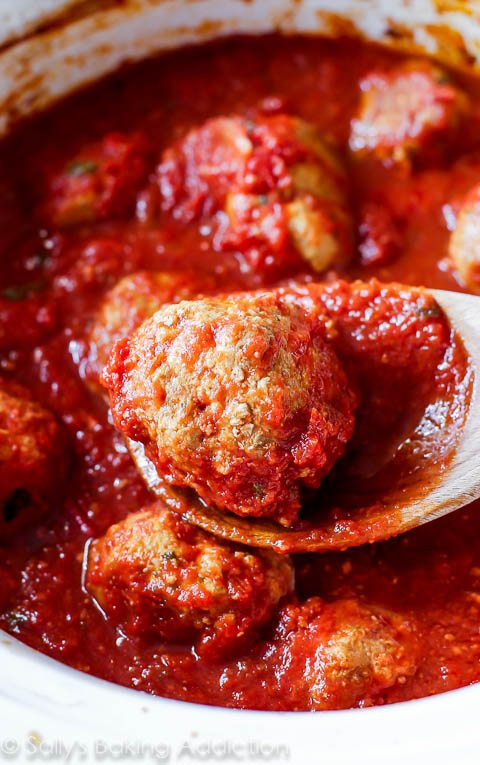 This is my favorite recipe for classic crockpot turkey meatballs. They're spiced just right, incredibly tender, filled with tons of flavor, and there's hardly any work involved.