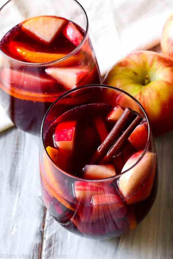 Honeycrisp Apple Sangria. - Sallys Baking Addiction