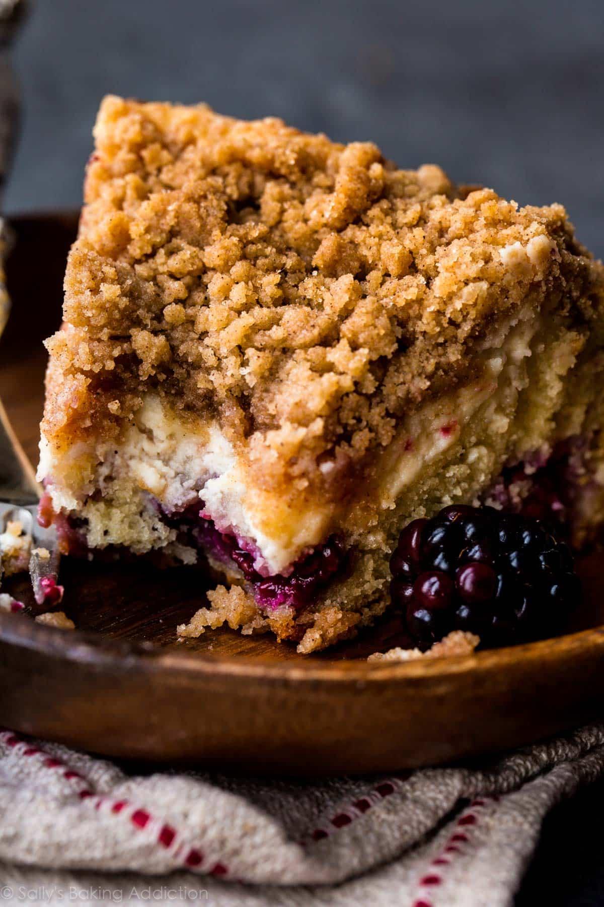 Blackberry Cream Cheese Crumb Cake  Sallys Baking Addiction
