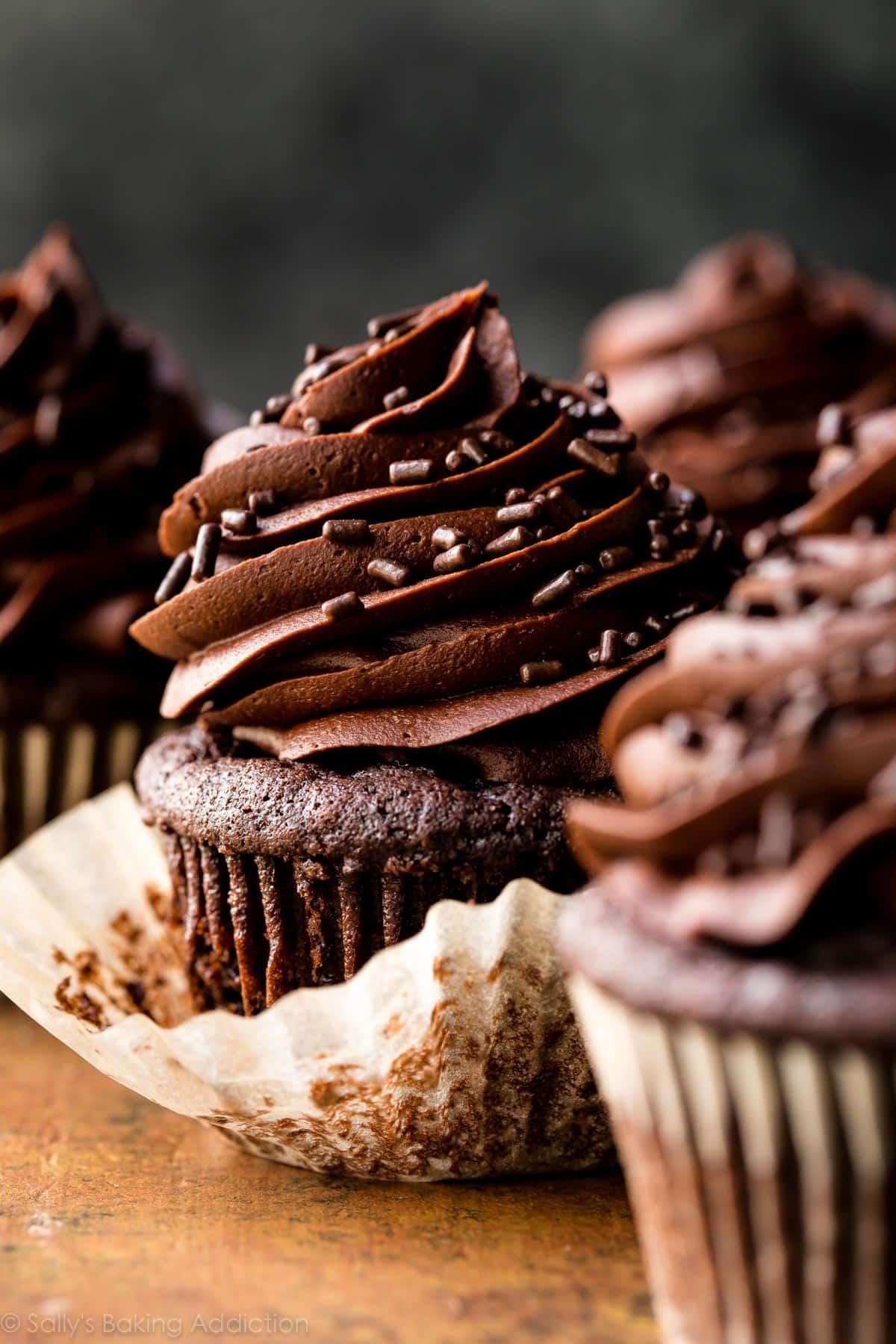 Super Moist Chocolate Cupcakes  Sallys Baking Addiction