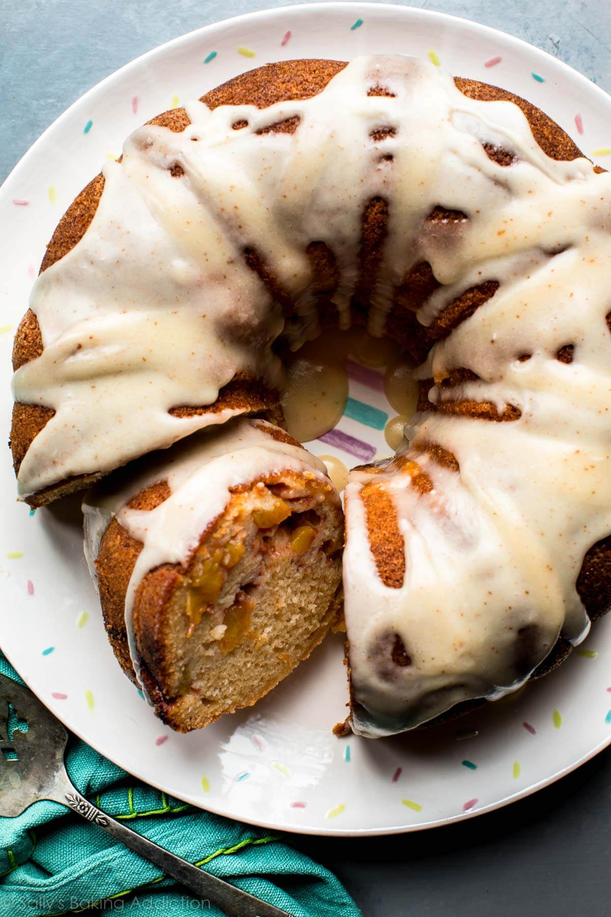 Peach Bundt Cake With Brown Butter Icing Sally S Baking