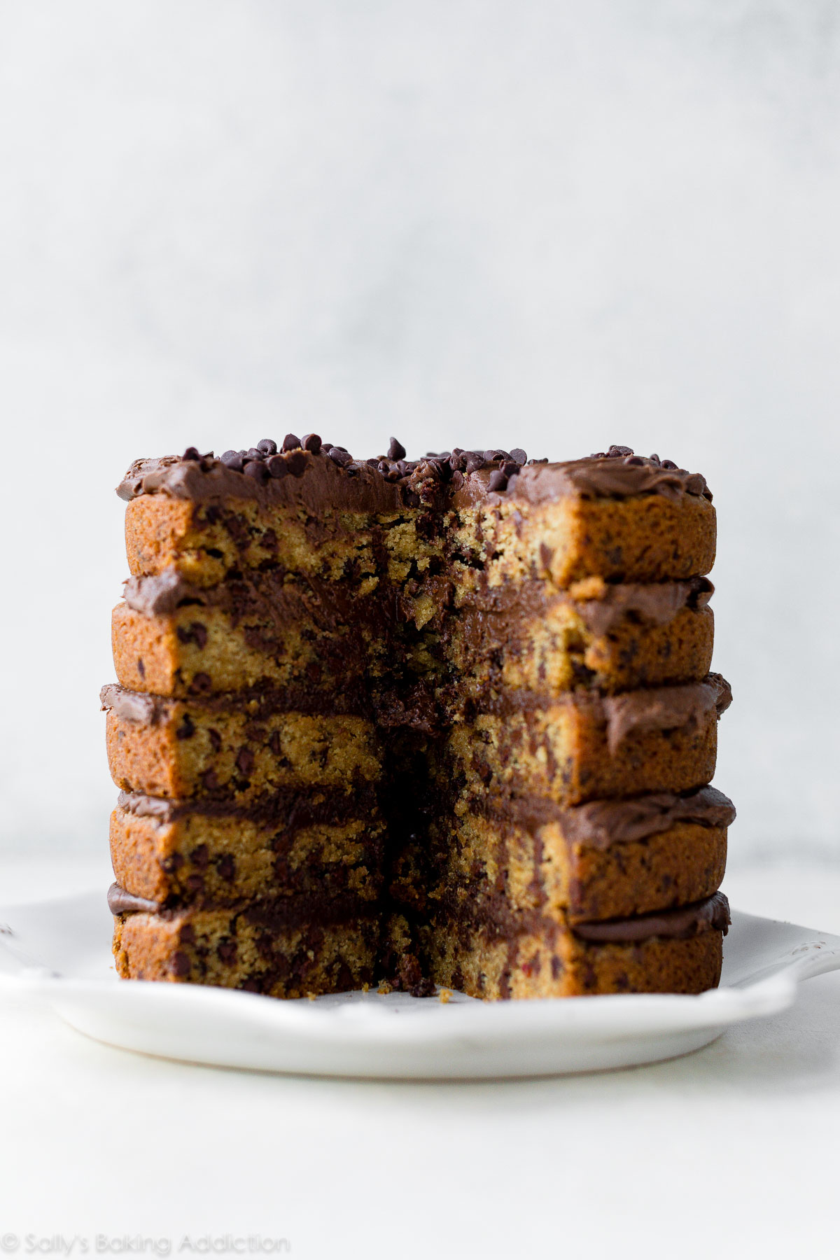 Chocolate Chip Cookie Layer Cake Sallys Baking Addiction