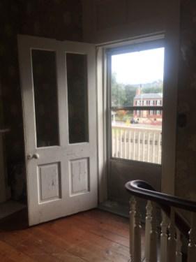 View from second floor door to gallery
