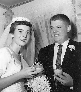 Judy List marrying Phil George