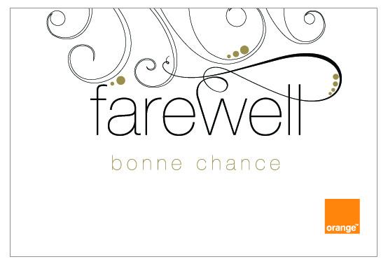 Media Farewell Card