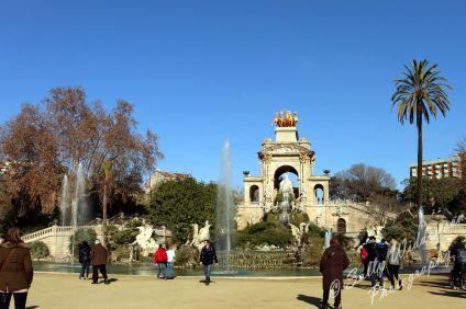 Beautiful fountain in Parc de la Ciutadella, Barcelona