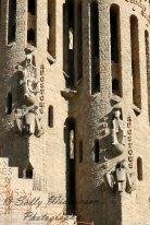 Basilica de la sagrada familia apostles statues sculptures Thomas Phillip Barcelona Spain bell towers