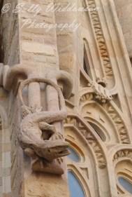Lizard sculpture on apse facade north end of Basilica de la Sagrada Familia Barcelona Spain