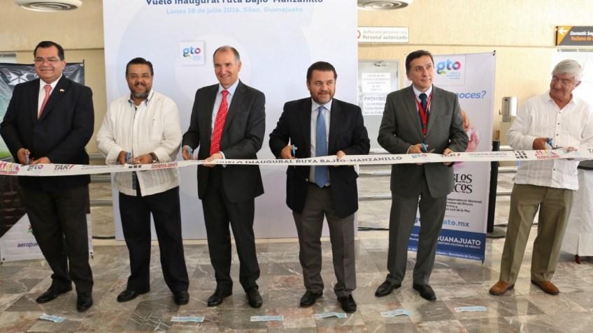 BAJÍO-MANZANILLO (1) Inauguración del vuelo en Aeropuerto Internacional de Guanajuato