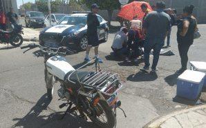 Motociclista resulta lesionado
