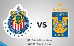 #Chivas vs #Tigrres la final de la #Liguilla del fútbol…