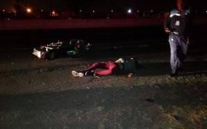 MOTOCICLISTA FALLECE TRAS IMPACTAR SU UNIDAD CONTRA UNA PIPA