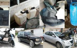 Cuerpos policiacos logran asegurar equipo táctico, combustible y vehículos en…
