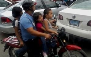 RIESGOSO TRASPORTAR MENORES EN BICICLETA
