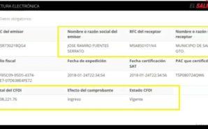 Casi 1 millón de pesos factura al municipio de Salamanca…