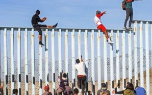 Migrantes llegan la frontera México-Estados Unidos