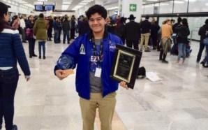 Estudiante mexicano obtiene segundo lugar en concurso de la NASA