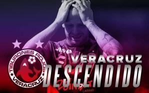 Veracruz desciende de forma oficial en el Clausura 2019