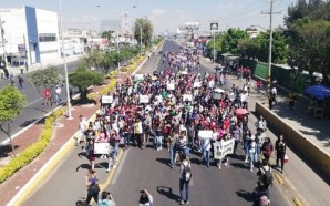 Cansados de la inseguridad, estudiantes del Tecnológico de Celaya marchan…
