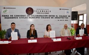FIRMA MUNICIPIO CONVENIO DE COLABORACION CON COLEGIOS DE ARQUITECTOS E…