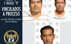 QUEDAN EN PRISIÓN PREVENTIVA 3 ASALTANTES DE OXXOS.