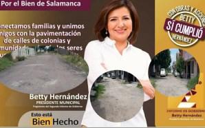 LA ALCALDESA PRESUME PAVIMENTACIÓN EN SU 2DO INFORME Y CIUDADANOS…