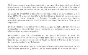 NECAXA ABRIRÁ LAS PUERTAS DEL ESTADIO VICTORIA