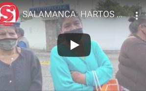 HARTOS DE LA FALTA DE AGUA POTABLE, SE MANIFIESTAN EN…