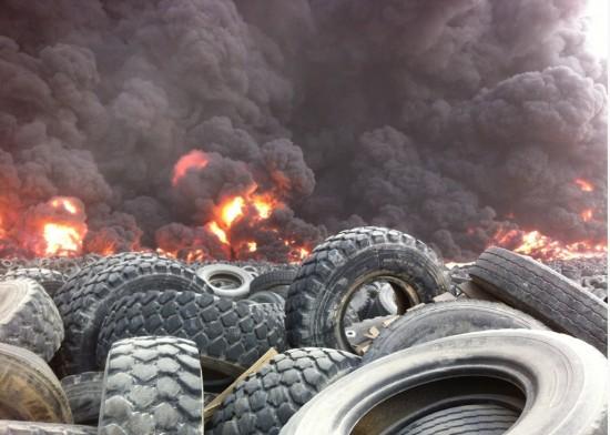 tire dump fire