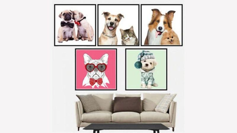 print pets photos canvas