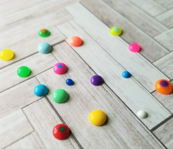 Faux Enamel Dots for paper crafts