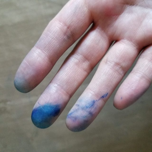 Marker on fingers