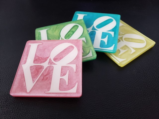 love coasters on black